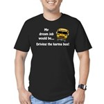 Karma Bus Men's Fitted T-Shirt (dark)