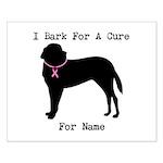 Saint Bernard Personalizable I Bark For A Cure Sma