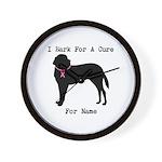 Saint Bernard Personalizable I Bark For A Cure Wal