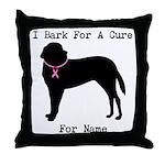 Saint Bernard Personalizable I Bark For A Cure Thr