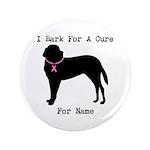 Saint Bernard Personalizable I Bark For A Cure 3.5