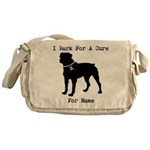 Rottweiler Personalizable I Bark For A Cure Messen
