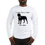 Rottweiler Personalizable I Bark For A Cure Long S