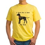 Shar Pei Personalizable I Bark For A Cure Yellow T