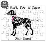 Dalmatian Personalizable I Bark For A Cure Puzzle