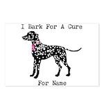 Dalmatian Personalizable I Bark For A Cure Postcar