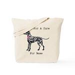 Dalmatian Personalizable I Bark For A Cure Tote Ba