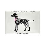 Dalmatian Personalizable I Bark For A Cure Rectang