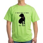 Shar Pei Personalizable I Bark For A Cure Green T-