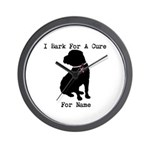 Shar Pei Personalizable I Bark For A Cure Wall Clo
