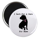 Shar Pei Personalizable I Bark For A Cure 2.25