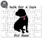 Shar Pei Personalizable I Bark For A Cure Puzzle