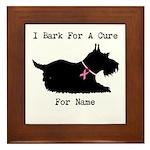 Pomeranian Personalizable I Bark For A Cure Framed