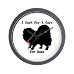 Pomeranian Personalizable I Bark For A Cure Wall C