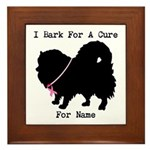 Pomeranian Personalizable I Bark For A Cure Framed