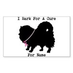 Pomeranian Personalizable I Bark For A Cure Sticke