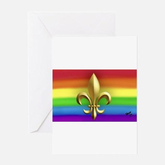 FUR ELISE gay rainbow art Greeting Cards