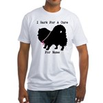 Pomeranian Personalizable I Bark For A Cure Fitted