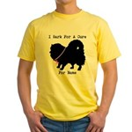 Pomeranian Personalizable I Bark For A Cure Yellow