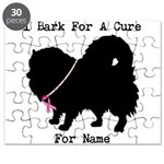 Pomeranian Personalizable I Bark For A Cure Puzzle