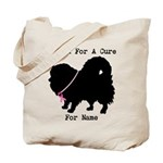 Pomeranian Personalizable I Bark For A Cure Tote B