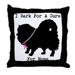 Pomeranian Personalizable I Bark For A Cure Throw