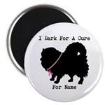 Pomeranian Personalizable I Bark For A Cure Magnet