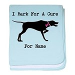 Pointer Personalizable I Bark For A Cure baby blan