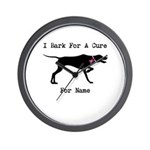 Pointer Personalizable I Bark For A Cure Wall Cloc