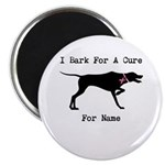 Pointer Personalizable I Bark For A Cure Magnet