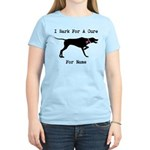 Pointer Personalizable I Bark For A Cure Women's L
