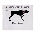 Pointer Personalizable I Bark For A Cure Stadium