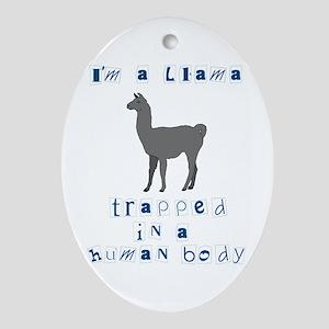 I'm a Llama Oval Ornament