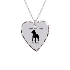 Pitbull Personalizable I Bark For A Cure Necklace