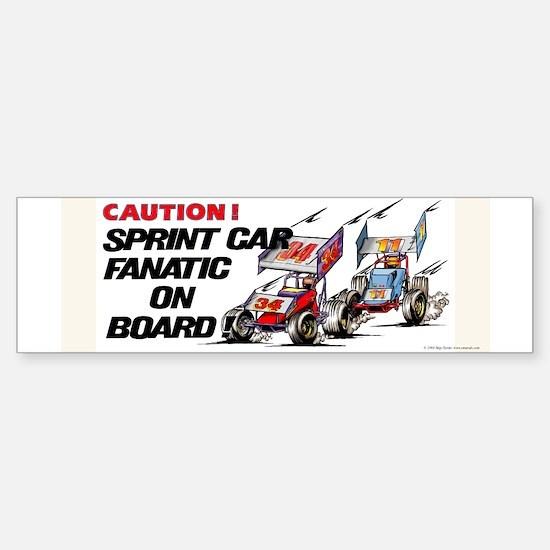 Sprint Car Fanatic Bumper Bumper Bumper Sticker