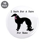 Irish Setter Personalizable I Bark For A Cure 3.5