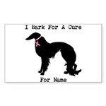 Irish Setter Personalizable I Bark For A Cure Stic