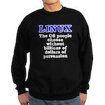 Linux: The OS people - Sweatshirt (dark)