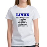 Linux: The OS people - Women's T-Shirt