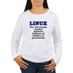 Linux: The OS people - Women's Long Sleeve T-Shirt