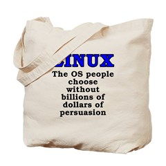 Linux: The OS people - Tote Bag