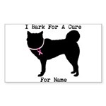 Great Dane Personalizable I Bark For A Cure Sticke