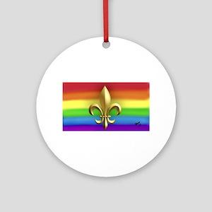 FUR ELISE gay rainbow art Round Ornament
