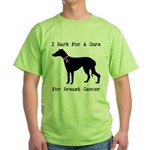 Greyhound Personalizable I Bark For A Cure Green T