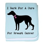 Greyhound Personalizable I Bark For A Cure baby bl