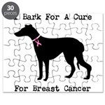Greyhound Personalizable I Bark For A Cure Puzzle