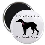 Greyhound Personalizable I Bark For A Cure 2.25