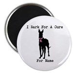 Great Dane Personalizable I Bark For A Cure Magnet