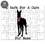 Great Dane Personalizable I Bark For A Cure Puzzle