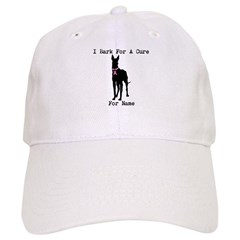 Great Dane Personalizable I Bark For A Cure Baseball Cap